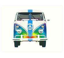 Retro Classic Volkswagen Hippy Van Art Print