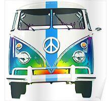 Retro Classic Volkswagen Hippy Van Poster