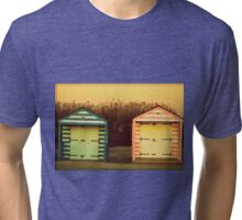 Paternal Twins - Beach Huts of West Wittering Tri-blend T-Shirt