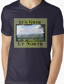It's Grim Up North Mens V-Neck T-Shirt