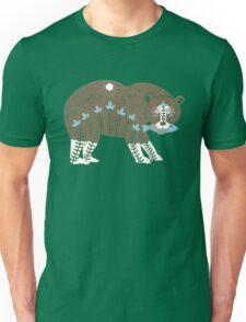 Folk Art Spirit Bear with Fish Unisex T-Shirt