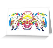 Crazy head Greeting Card