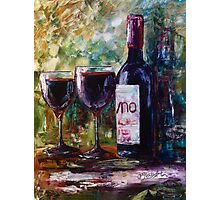 """Aged Wine"" Oil painting by Lena Owens/OLena Art Photographic Print"
