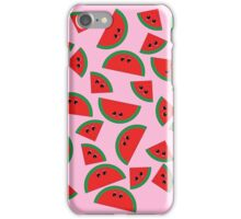 Watermelon chibi pattern iPhone Case/Skin