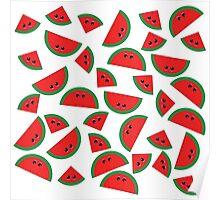 Watermelon chibi pattern Poster