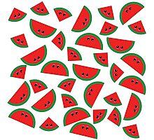 Watermelon chibi pattern Photographic Print