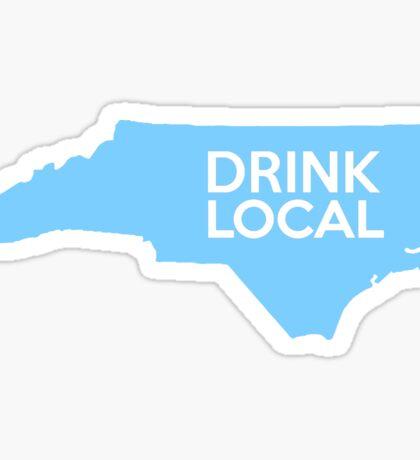 North Carolina Drink Local NC Blue Sticker