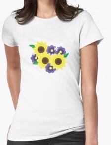 Sunflower Bouquet Womens Fitted T-Shirt