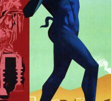 Pompeii Pompei Vintage Italian travel advert Sticker