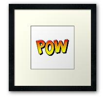 Comic Book Pow Cartoon Framed Print