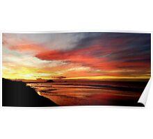 Papamoa Beach Sunset Poster