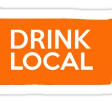 Tennessee Drink Local TN Orange Sticker