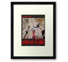 Mountain biker by KNOW FEAR WEAR Framed Print