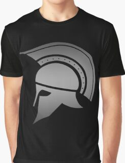 Ancient Greek Spartan Helmet Graphic T-Shirt