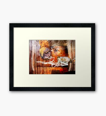 Help is on its way. Framed Print