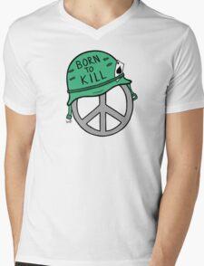 Peace Is Born To Kill Mens V-Neck T-Shirt