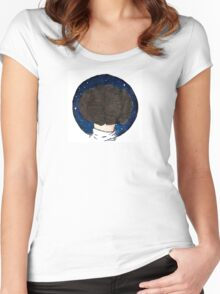 Space Buns Women's Fitted Scoop T-Shirt
