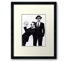 Aaron Paul & Bryan Cranston Framed Print