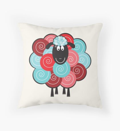 Curly the Sheep Throw Pillow