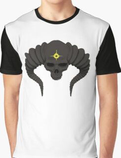Horned Skull Graphic T-Shirt