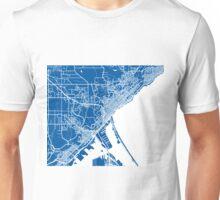 Duluth Map - Deep Blue Unisex T-Shirt