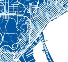 Duluth Map - Deep Blue Sticker
