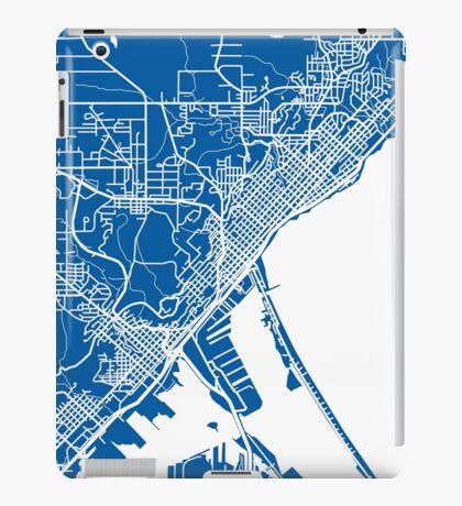Duluth Map - Deep Blue iPad Case/Skin