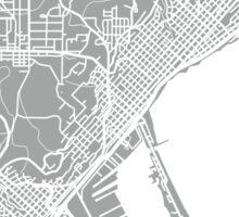 Duluth Map - Light Grey Sticker
