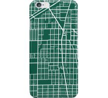 Evanston Map - Dark Green iPhone Case/Skin