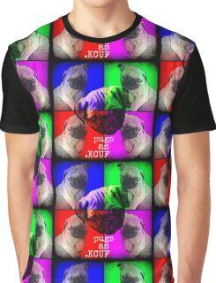 Pugs As KCUF Graphic T-Shirt