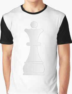 White queen chess piece Graphic T-Shirt