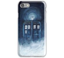 Tardis on the clouds.. iPhone Case/Skin