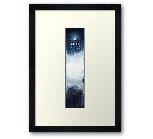 Tardis on the clouds.. Framed Print