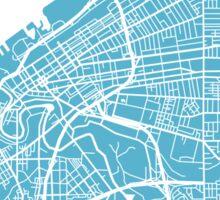 Cleveland Map - Baby Blue Sticker