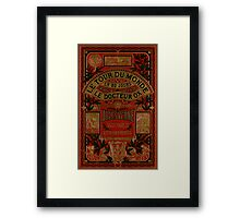 Jules Verne Around The World In Eighty Days Framed Print