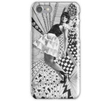 Paper dress collage iPhone Case/Skin