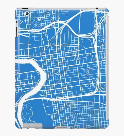 Columbus Map - Light Blue iPad Case/Skin
