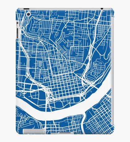 Cincinnati Map - Deep Blue iPad Case/Skin