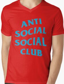 Anti Social Social Club - Blue  Mens V-Neck T-Shirt