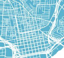 Cincinnati Map - Baby Blue Sticker