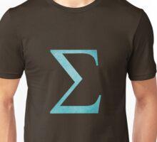 Light Blue Sigma Symbol Unisex T-Shirt