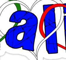 Italian Hearts Sticker