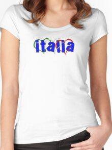 Italian Hearts Women's Fitted Scoop T-Shirt
