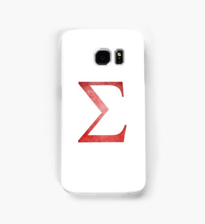 Red Sigma Symbol Samsung Galaxy Case/Skin
