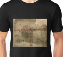 American Revolutionary War Era Maps 1750-1786 853 Rough draft of Charlestown in water colour Unisex T-Shirt