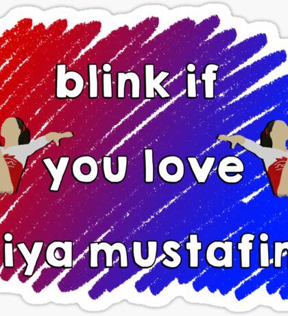 Blink if you love Aliya Mustafina Sticker