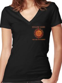 End Of Silence Women's Fitted V-Neck T-Shirt