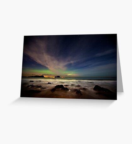 Seacliff Beach Aurora Greeting Card