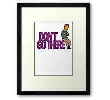 Simpsons - Dont Go There Framed Print
