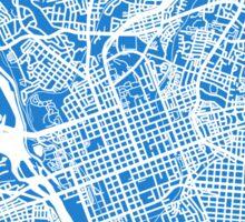Columbia SC Map - Light Blue Sticker